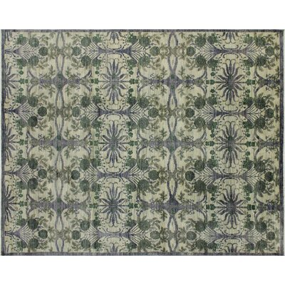 One-of-a-Kind Harkness Hand-Knotted Wool Gray/Green Area Rug