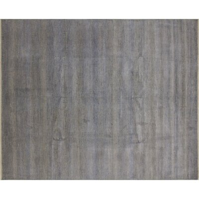 Diego Grass Hand-Knotted Gray Area Rug