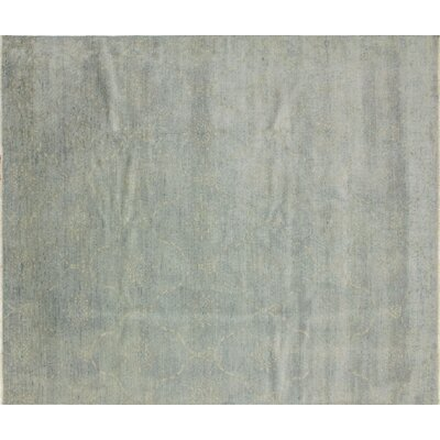 Harkness Hand-Knotted 100% Wool Gray Area Rug
