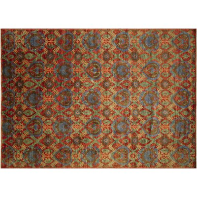 Harkness Hand-Knotted Wool Rust Area Rug