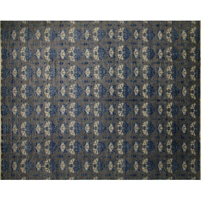 One-of-a-Kind Harkness Hand-Knotted Wool Gray/Blue Area Area Rug
