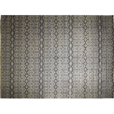 One-of-a-Kind Harkness Hand-Knotted 100% Wool Gray Area Rug