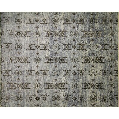 Harkness Hand-Knotted Wool Blue Area Rug