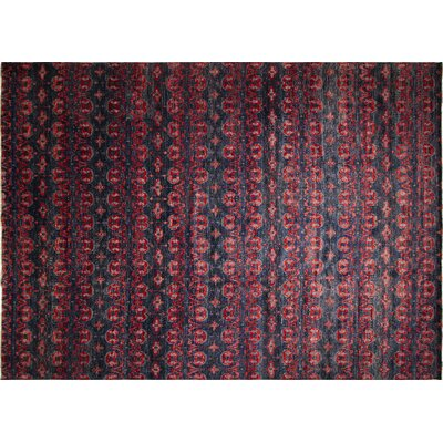 One-of-a-Kind Harkness Hand-Knotted Wool Blue/Red Area Rug