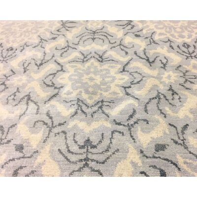 One-of-a-Kind Harkness Hand-Knotted Wool Ivory/Gray Area Rug