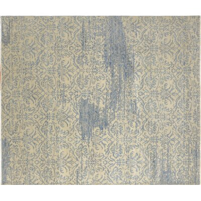 One-of-a-Kind Harkness Hand-Knotted Ivory Area Rug