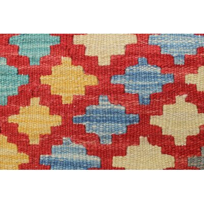 One-of-a-Kind Vallejo Kilim Solmaz Hand-Woven Wool Rust Area Rug