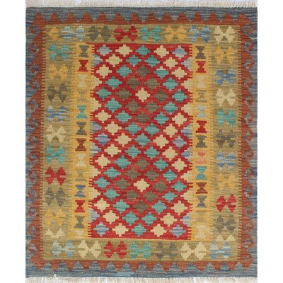 Vallejo Kilim Nevin Hand-Woven Wool Rust Area Rug