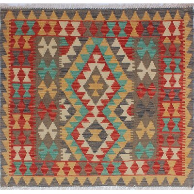 One-of-a-Kind Vallejo Kilim Ceyden Hand-Woven Wool Rust Area Rug