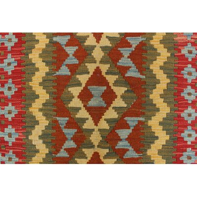 One-of-a-Kind Rucker Kilim Sevi Hand-Woven Wool Rust Area Rug