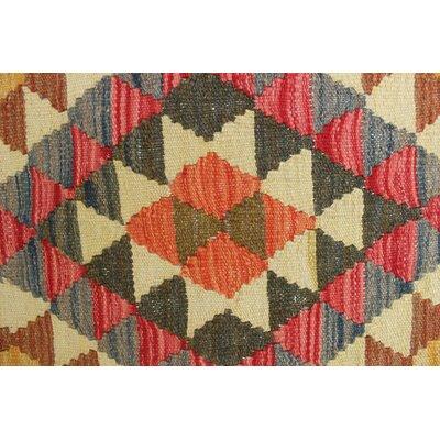 One-of-a-Kind Rucker Kilim Salime Hand-Woven Wool Red Area Rug