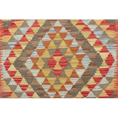One-of-a-Kind Vallejo Kilim Yeliz Hand-Woven Wool Gold Area Rug