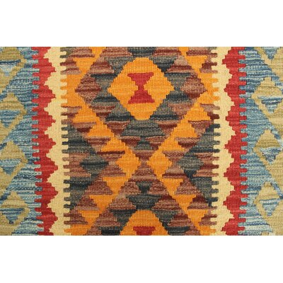 Vallejo Kilim Papatya Hand-Woven Wool Gold Area Rug