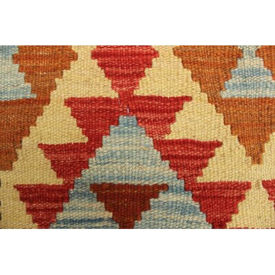 One-of-a-Kind Vallejo Kilim Merih Hand-Woven Wool Gold Area Rug