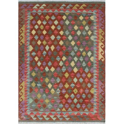 One-of-a-Kind Vallejo Kilim Ayhun Hand-Woven Wool Brown Area Rug