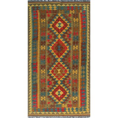 Vallejo Kilim Netice Hand-Woven Wool Gold Area Rug