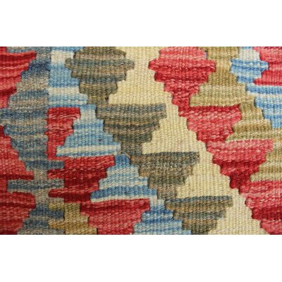 One-of-a-Kind Vallejo Kilim Uzra Hand-Woven Wool Rust Area Rug