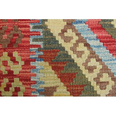 One-of-a-Kind Rucker Kilim Wali Hand-Woven Wool Rust Area Rug