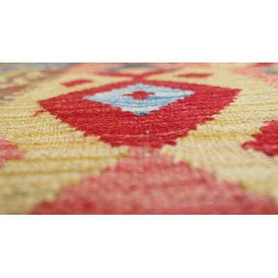 One-of-a-Kind Vallejo Kilim Dastgir Hand-Woven Wool Red Area Rug