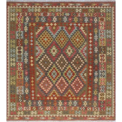 One-of-a-Kind Vallejo Kilim Anita Hand-Woven Wool Green Area Rug