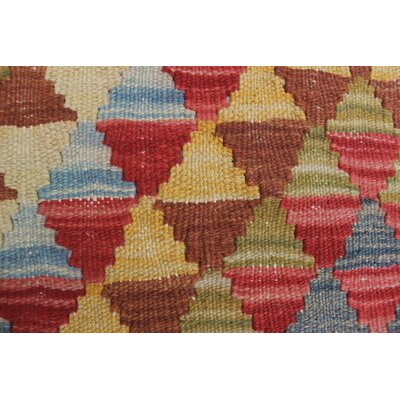 Vallejo Kilim Layla Hand-Woven Wool Red Area Rug