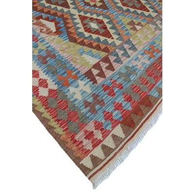 One-of-a-Kind Rucker Kilim Naseera Hand-Woven Wool Brown Area Rug