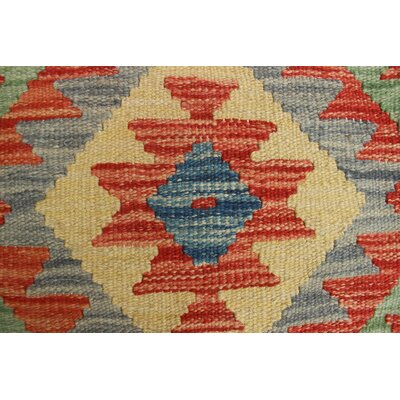 One-of-a-Kind Rucker Kilim Romal Hand-Woven Wool Rust Area Rug