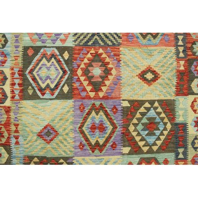 One-of-a-Kind Rucker Kilim Wina Hand-Woven Wool Rust Area Rug