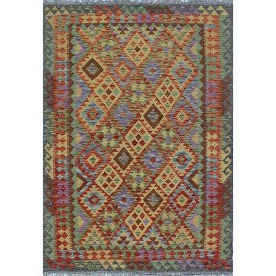 Vallejo Kilim Noorzay Hand-Woven Wool Gold Area Rug