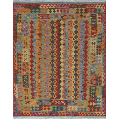 One-of-a-Kind Vallejo Kilim Touryalay Hand-Woven Wool Rust Area Rug