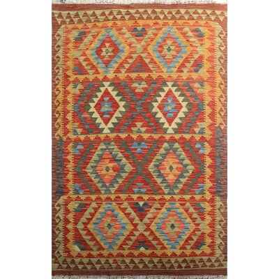 Vallejo Kilim Noor Ali Hand-Woven Wool Rust/Red Area Rug