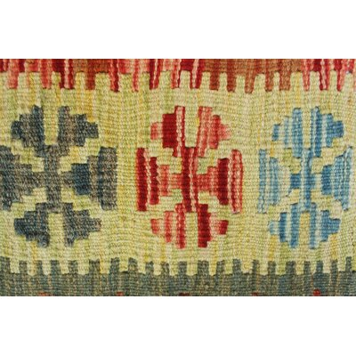 Vallejo Kilim Rozama Hand-Woven Wool Red Area Rug