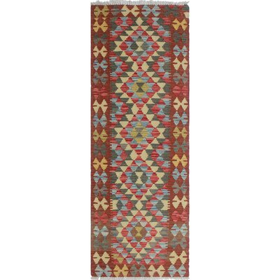 One-of-a-Kind Vallejo Kilim Sabeir Hand-Woven Wool Rust Area Rug