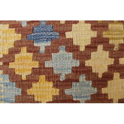 Vallejo Kilim Mukhtar Hand-Woven Wool Brown Area Rug