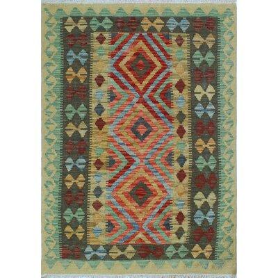 One-of-a-Kind Rucker Kilim Maraye Hand-Woven Wool Beige Area Rug