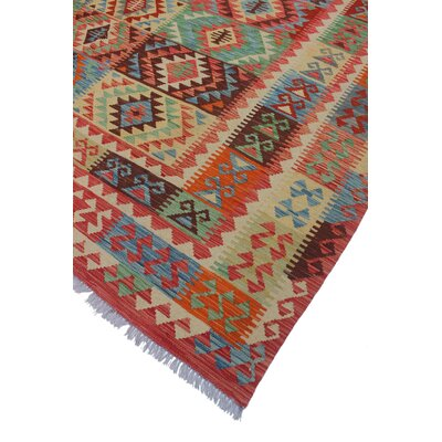 One-of-a-Kind Vallejo Kilim Mohsin Hand-Woven Wool Rust Area Rug