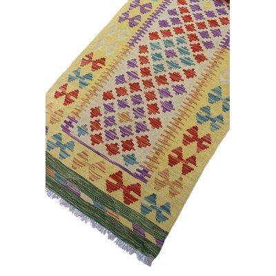 Vallejo Kilim Mansoor Hand-Woven Wool Gold Area Rug