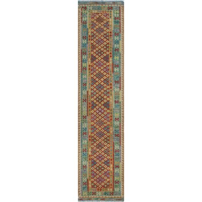 Vallejo Kilim Azizullah Hand-Woven Wool Red Area Rug