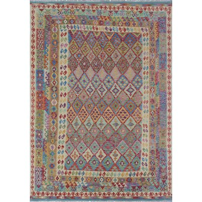 One-of-a-Kind Rucker Kilim Tordil Hand-Woven Wool Beige Area Rug
