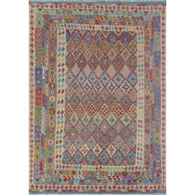Vallejo Kilim Tordil Hand-Woven Wool Beige Area Rug