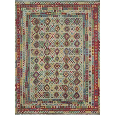 Vallejo Kilim Tarana Hand-Woven Wool Ivory Area Rug