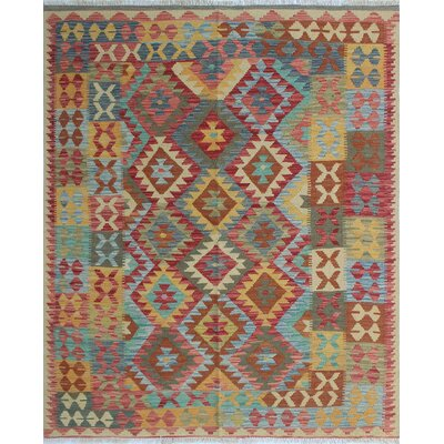 One-of-a-Kind Vallejo Kilim Bebegula Hand-Woven Wool Ivory Area Rug
