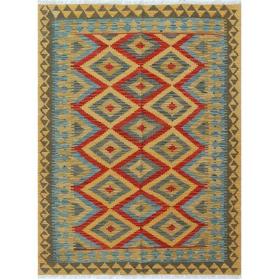 Vallejo Kilim Jaan Hand-Woven Wool Gold Area Rug