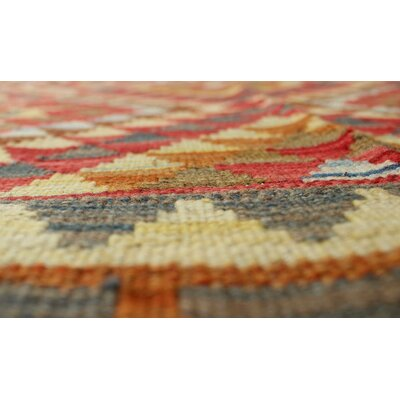 Vallejo Kilim Vida Hand-Woven Wool Brown Area Rug