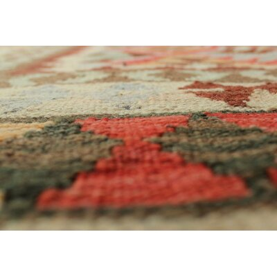One-of-a-Kind Vallejo Kilim Nadir Hand-Woven Wool Rust Area Rug