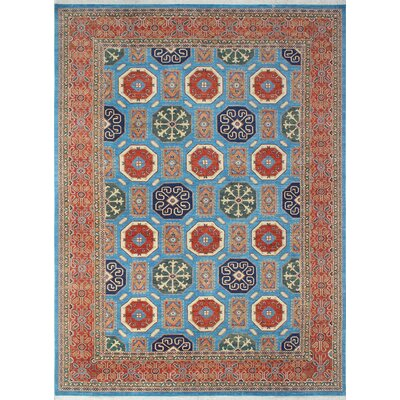 Woodmoor Bahara Hand-Knotted Wool Blue Area Rug