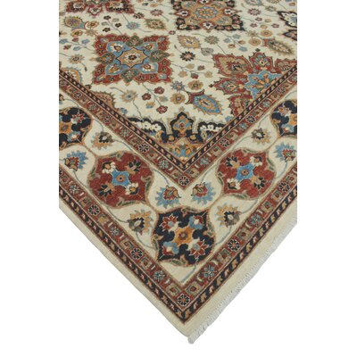 Woodmoor Haseeb Hand-Knotted Wool Ivory Area Rug