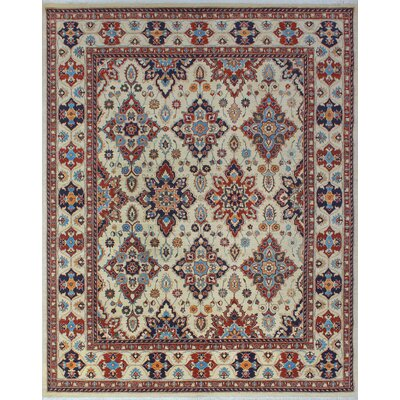 One-of-a-Kind Woodmoor Noorzad Hand-Knotted Wool Ivory Area Rug