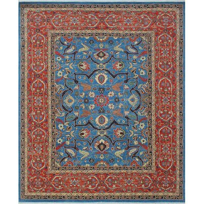 Woodmoor Negar Hand-Knotted Wool Blue Area Rug