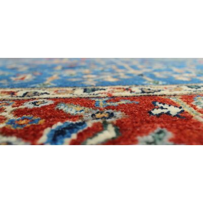One-of-a-Kind Woodmoor Fariya Hand-Knotted Wool Blue Area Rug